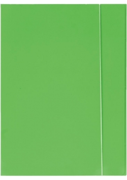 Teczka z gumką A4 600g jasnozielona neon OPTIMA