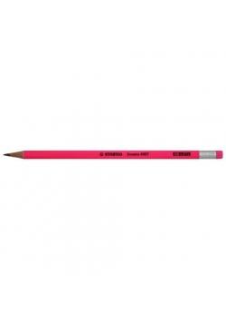 Ołówek Grafito z gumką HB różowy (12szt) STABILO