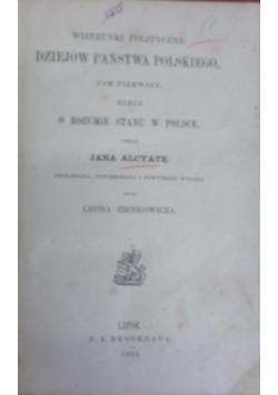Wizerunki polityczne dziejów państwa polskiego , tom I, 1864r.