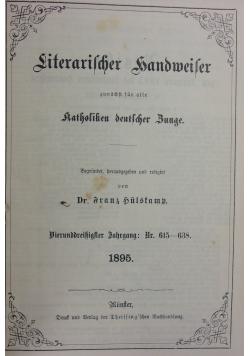 Literarischer handmeiter, katholiken deutscher Bunge, 1895r.