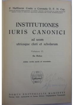 Institutiones iuris canonici, 1820 r.