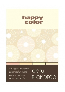 Blok A5/20K Deco Ecru 170g HAPPY COLOR
