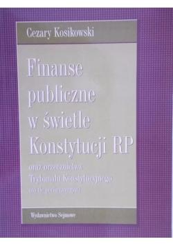 Finanse Publiczne w świetle Konstytucji RP