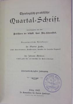 Quartal - Schrift, 1912 r.