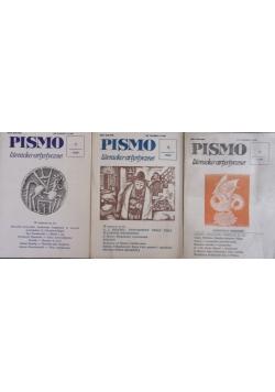 Pismo literacko-artystyczne, nr 1,5,6 1989r.