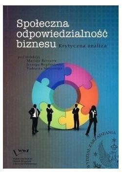 Społeczna odpowiedzialność biznesu...