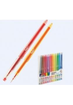 Długopisy żelowe 12 kolorów FIORELLO