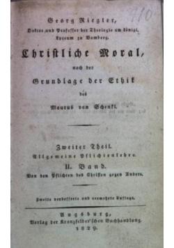 Christliche Moral, nach der Grundlage der Ethik des Maurus von Schenkl 1829 r.