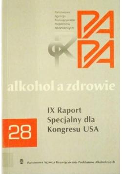 Alkohol a zdrowie. IX raport Specjalny dla Kongresu USA 28