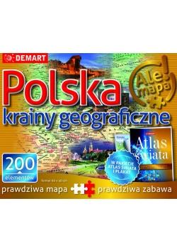 Puzzle Polska-krainy geograficzne + atlas