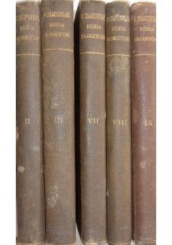 Dzieła dramatyczne - zestaw 5 książek, 1895r.