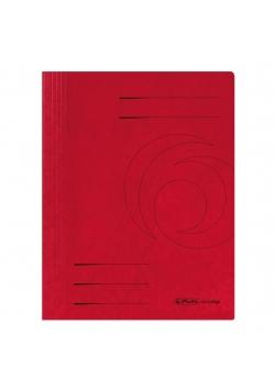 Skoroszyt A4 kartonowy ze sprężynką czerwony