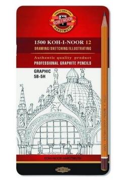 Ołówek grafitowy 1502/III 5B-5H (12szt)