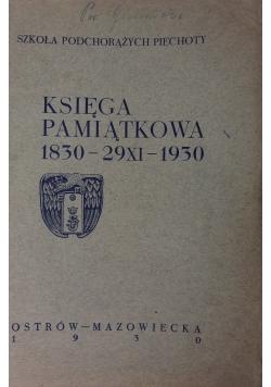 Księga pamiątkowa 1830-29XI-1930, 1930r.