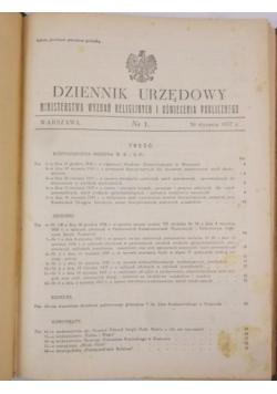 Dziennik Urzędowy Ministerstwa Wyznań Religijnych i Oświecenia Publicznego, nr 1, 1937 r.
