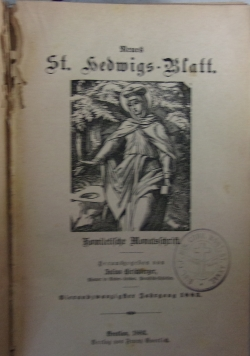 Neues St. Hedwigs-Blatt, 1883 r.