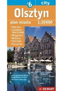 Plan miasta Olsztyn +6 1:20 000 DEMART w.2016