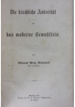 Die kirchliche Autoriitat 1872 r.