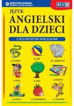 Język angielski dla dzieci z kolorowymi naklejkami