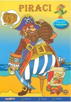 Piraci. Kolorowanka z naklejkami