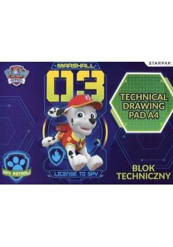 Blok techniczny A4 Paw Patrol 10 kartek 20 sztuk