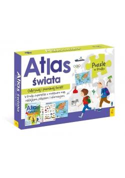 Pakiet: Atlas Świata/Plakat z mapą/Puzzle