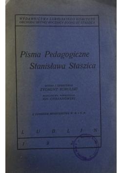Pisma pedagogiczne Stanisława Staszica, 1926 r,