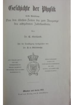 Belchichte der Phnlik,1913r.