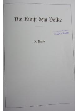 Die kunst dem Volke X band nr 37-40, 1919r.