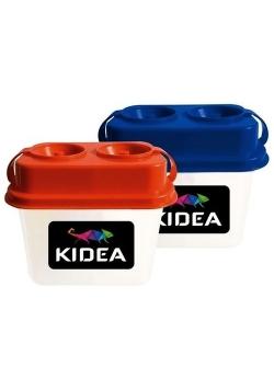 Kubek z blokadą wylania podwójny Kidea mix kolorów