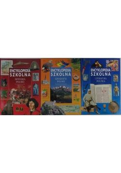 Encyklopedia szkolna, zestaw 3 książek