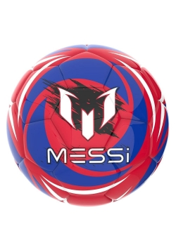 Piłka futbolowa czerwono - granatowa Messi
