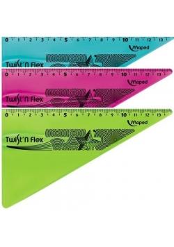 Ekierka Twist'n Flex niełamliwa 15cm mix MAPED