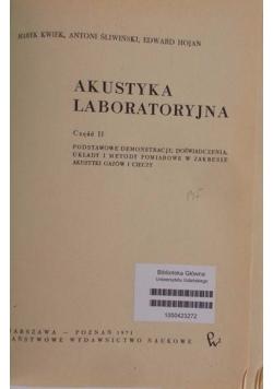 Akustyka laboratoryjna, część II
