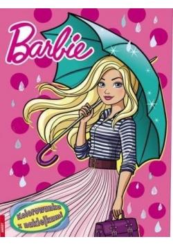 Kolorowanka z naklejkami. Barbie