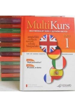 MultiKurs. Multimedialny kurs 5 języków obcych z CD, 16 tomów