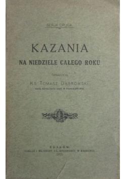 Kazania na niedziele całego roku, 1926 r.
