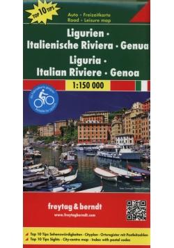 Ligurien Italienische Riviera Genua 1:150 000