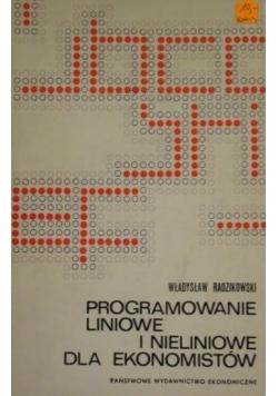 Programowanie liniowe i nieliniowe dla ekonomistów