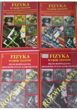 Fizyka - wybór testów , zestaw 4 książek