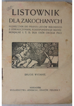 Listownik dla zakochanych,  1924 r.
