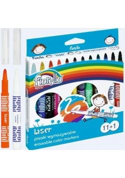 Pisaki Laser wymazywalne 11 kolorów +1 FIORELLO