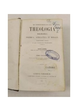 Theologia. Tomus secundus. 1852 r.