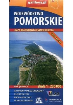 Mapa krajoznawczo-sam. - woj. Pomorskie 1:230 000