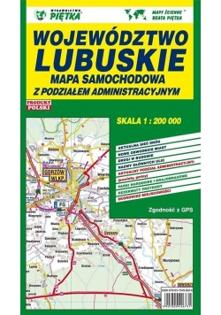 Województwo Lubuskie 1:200 000 mapa samochodowa