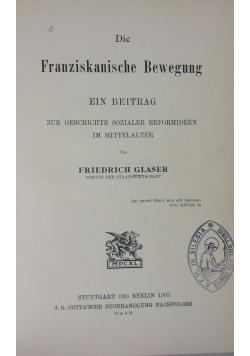 Die Franziskanische Bewegung ,1903r.