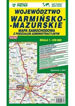 Województwo Warmińsko-Mazurskie 1:220 000 mapa