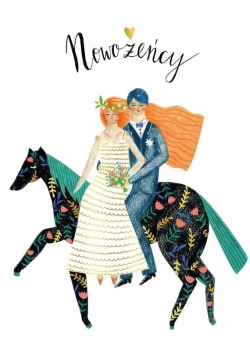 Karnet B6 Ślub - Koń