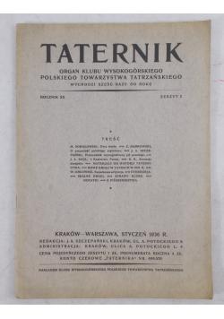 Taternik rocznik XX, 1936 r.
