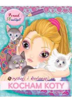 Rysuj i koloruj: Kocham koty